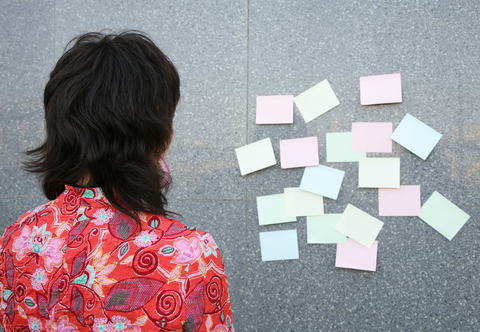 wall of post its